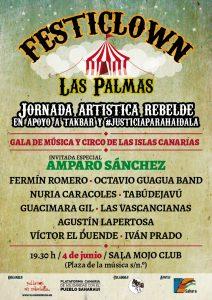 cartel SOLO GALA Jornada artística #justiciaparaHaidala PallasosRebeldia