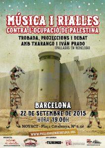 musica i rialles contra ocupacio barcelona 22 set 2015