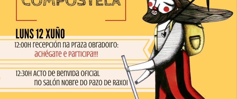 Compostela recibe el lunes a Iván Prado, que termina la #PeregrinaClown por la libertad de Abu Sakha