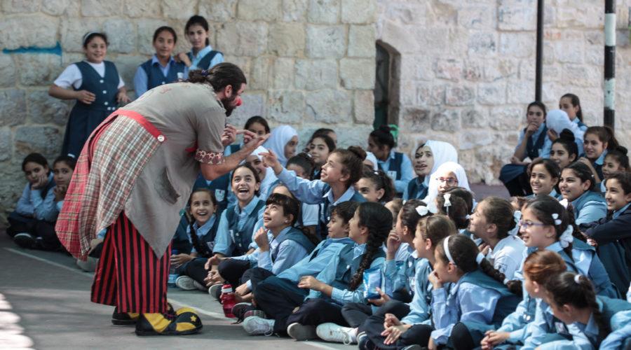 Preimeros días del Festiclown Palestina