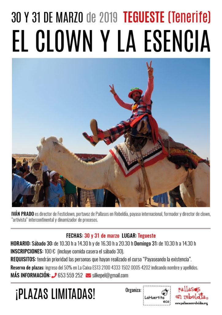 2019-03_Tegueste_Tenerife_cartel Clown y la Esencia